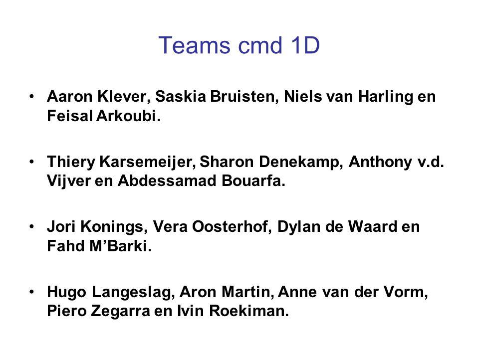 Teams cmd 1D Aaron Klever, Saskia Bruisten, Niels van Harling en Feisal Arkoubi.