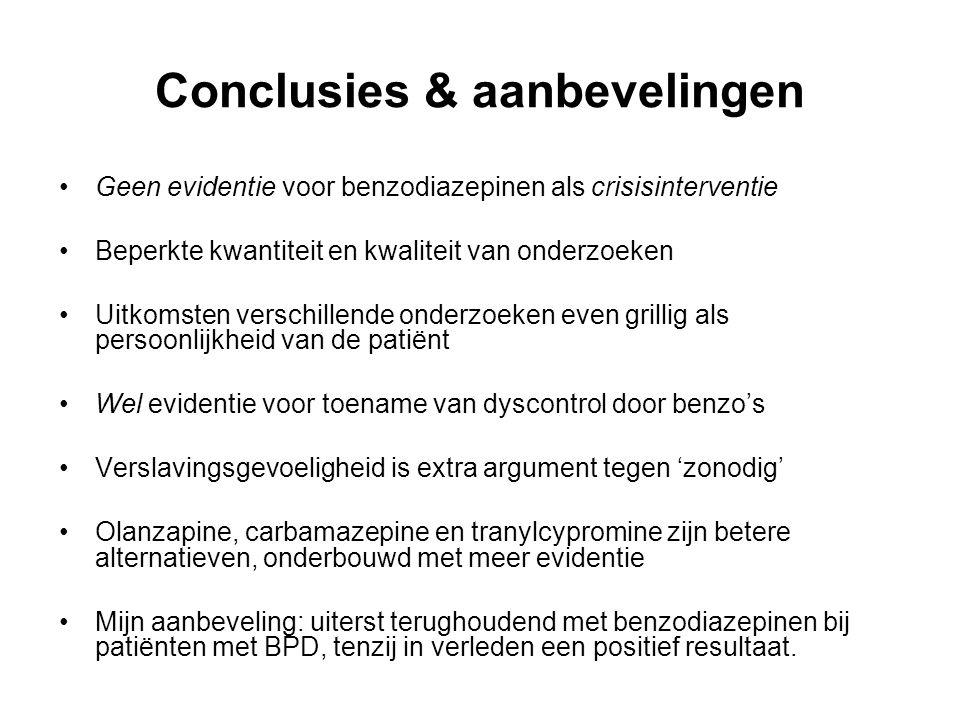 Conclusies & aanbevelingen