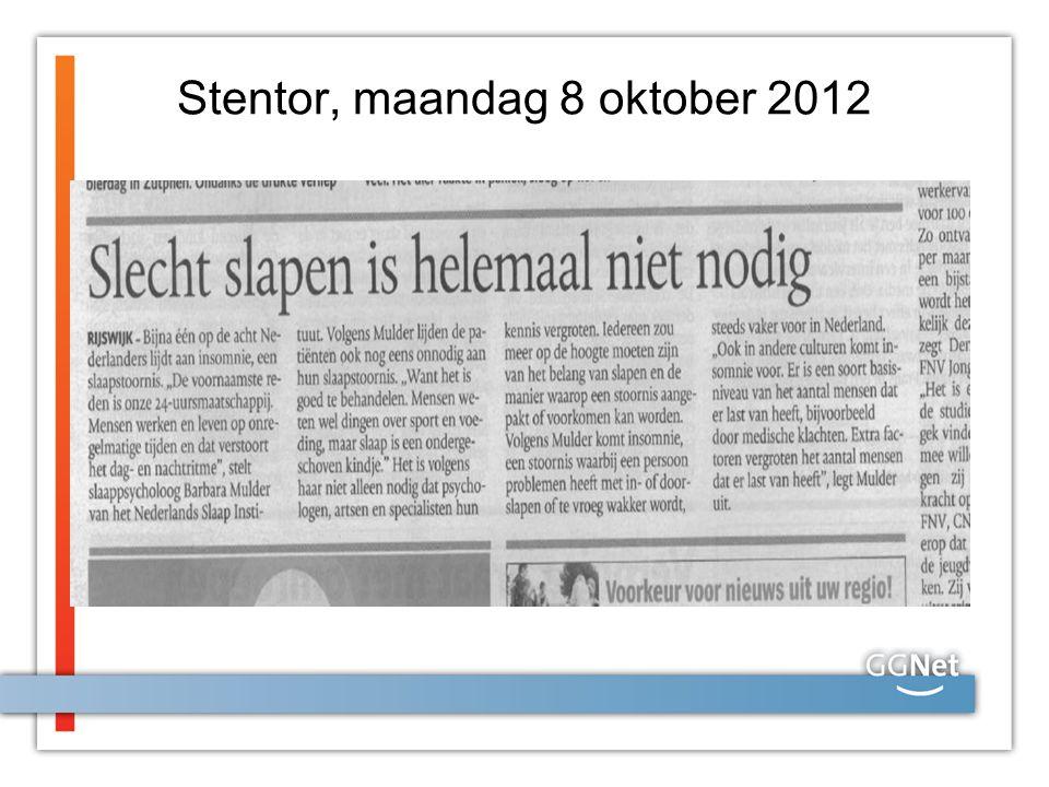 Stentor, maandag 8 oktober 2012