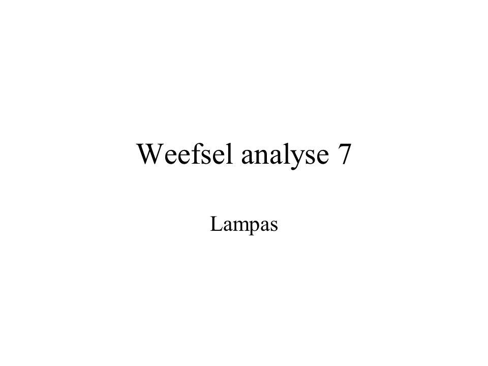 Weefsel analyse 7 Lampas