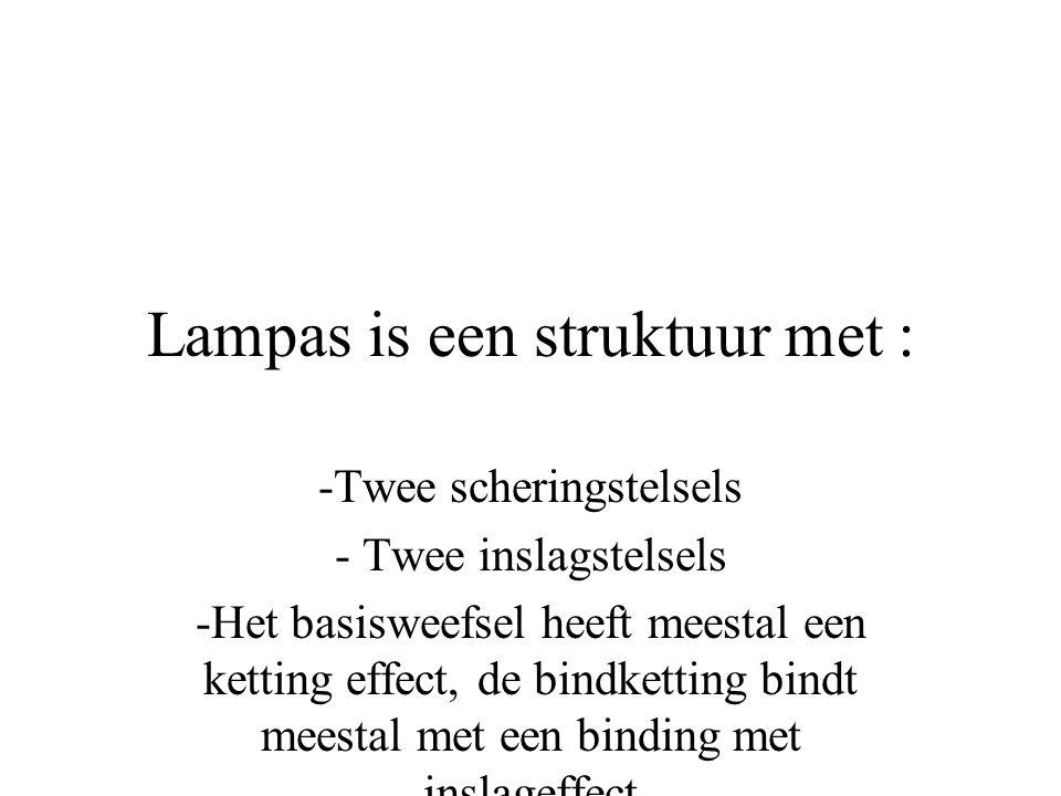 Lampas is een struktuur met :