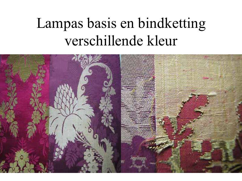 Lampas basis en bindketting verschillende kleur