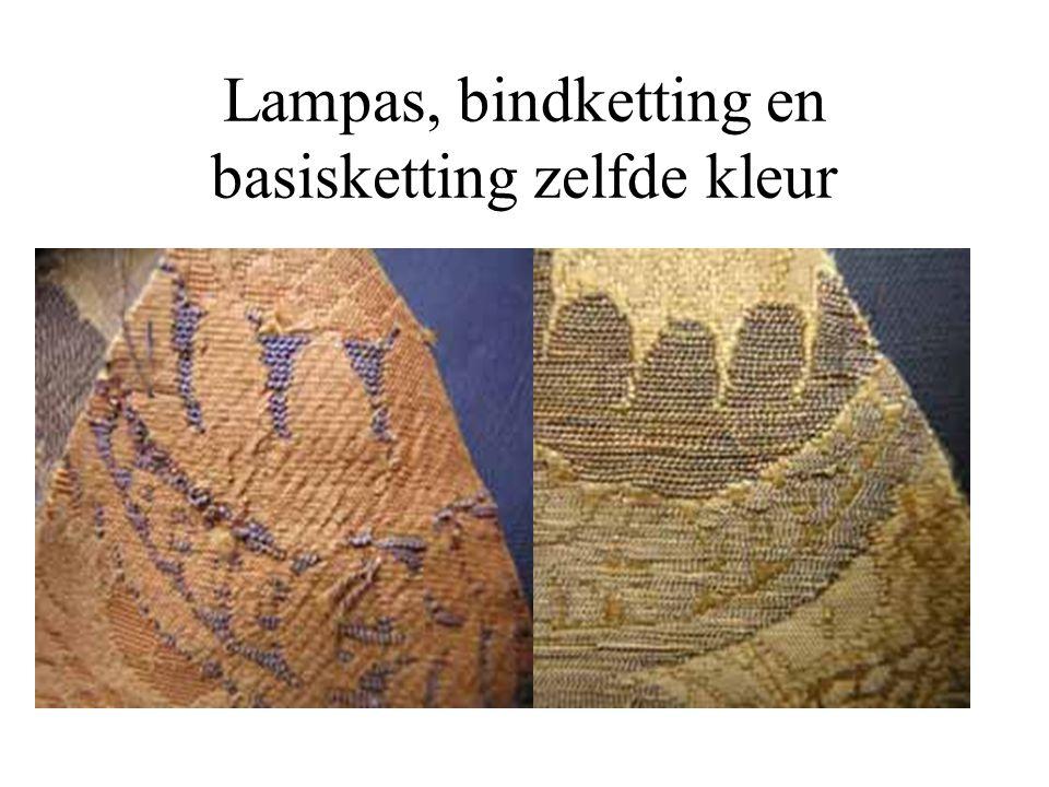 Lampas, bindketting en basisketting zelfde kleur