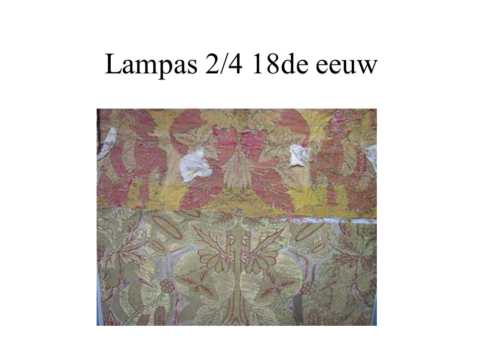 Lampas 2/4 18de eeuw