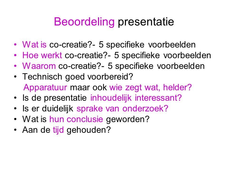 Beoordeling presentatie