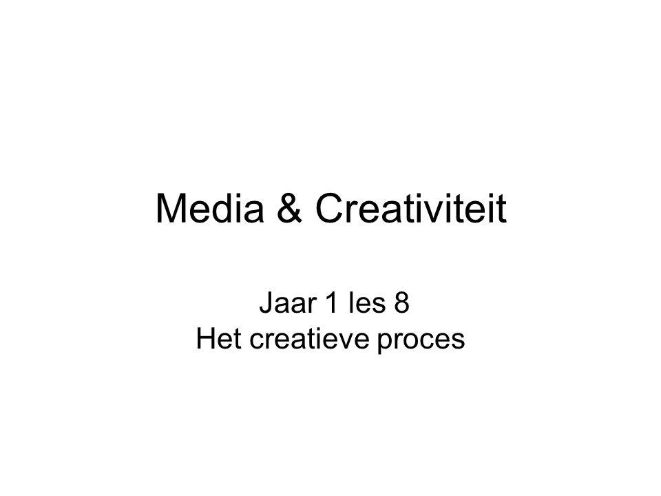 Jaar 1 les 8 Het creatieve proces