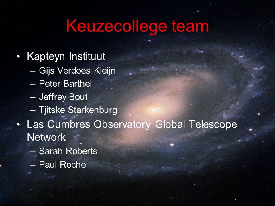 Keuzecollege team Kapteyn Instituut