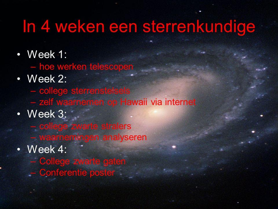In 4 weken een sterrenkundige