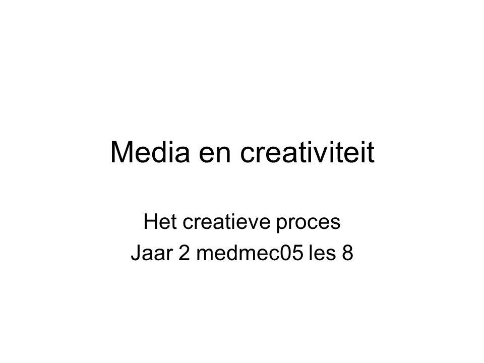 Het creatieve proces Jaar 2 medmec05 les 8