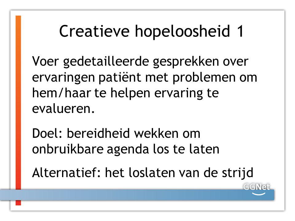 Creatieve hopeloosheid 1