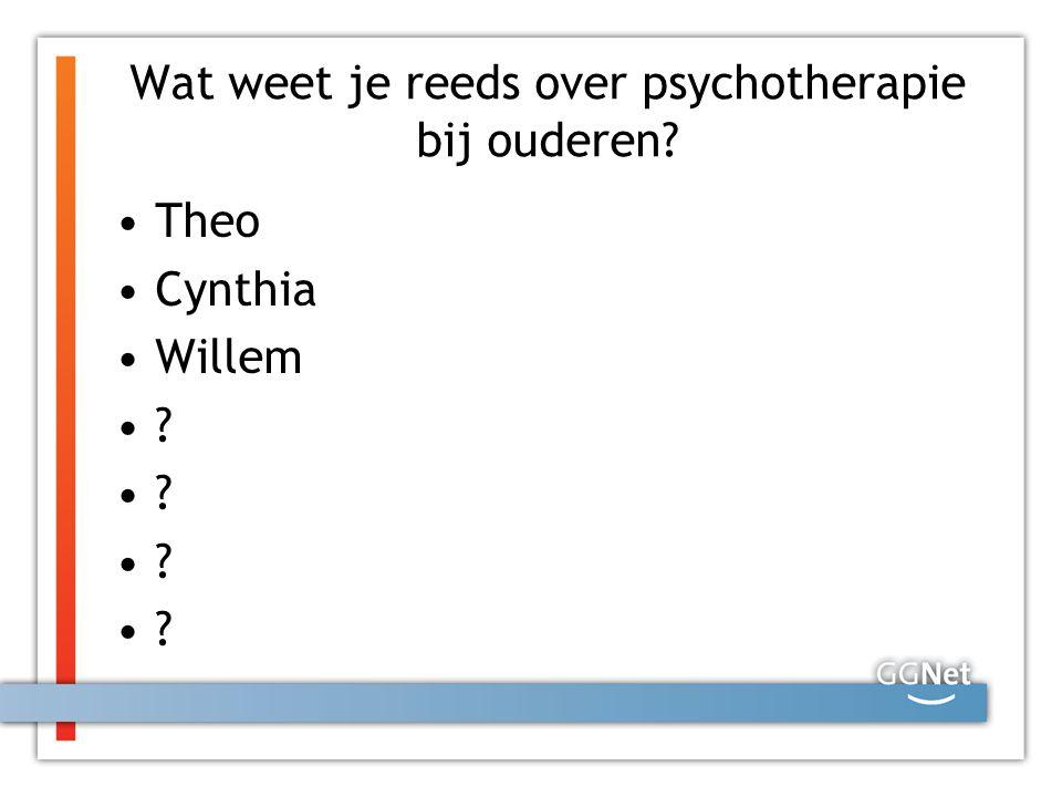 Wat weet je reeds over psychotherapie bij ouderen