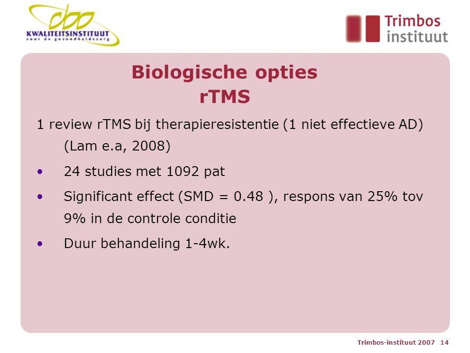 Biologische opties rTMS