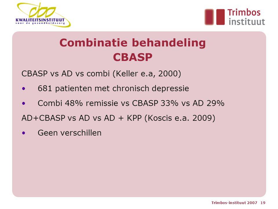 Combinatie behandeling CBASP