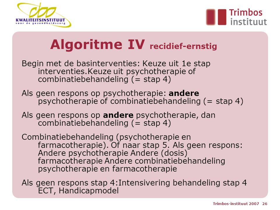 Algoritme IV recidief-ernstig