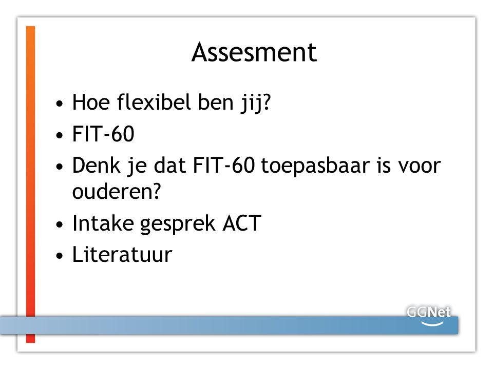 Assesment Hoe flexibel ben jij FIT-60