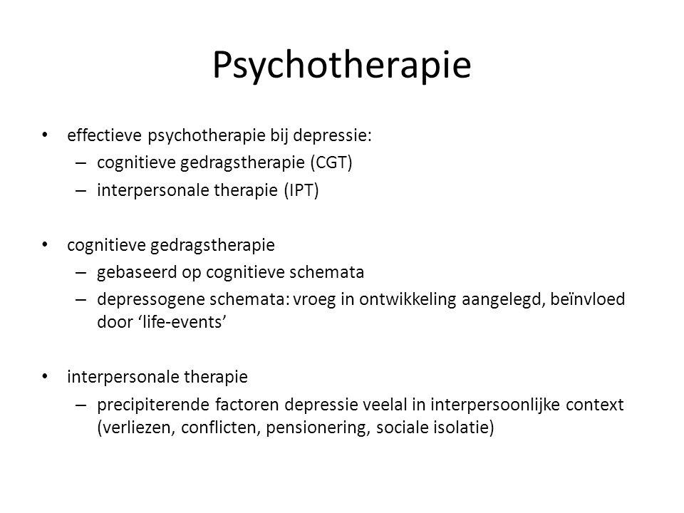 Psychotherapie effectieve psychotherapie bij depressie: