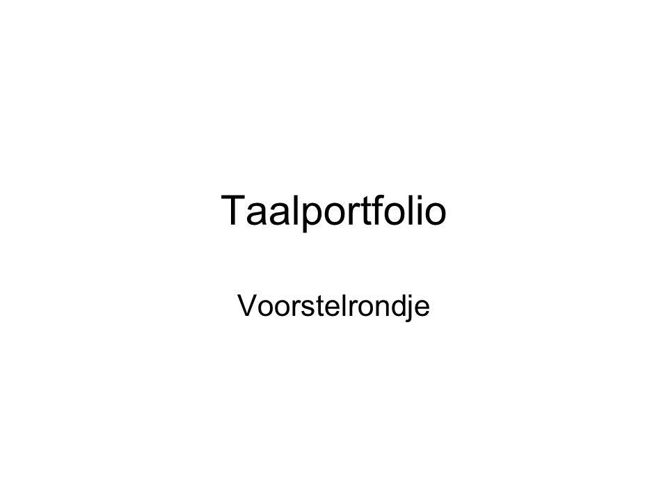 Taalportfolio Voorstelrondje