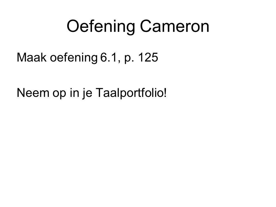 Oefening Cameron Maak oefening 6.1, p. 125