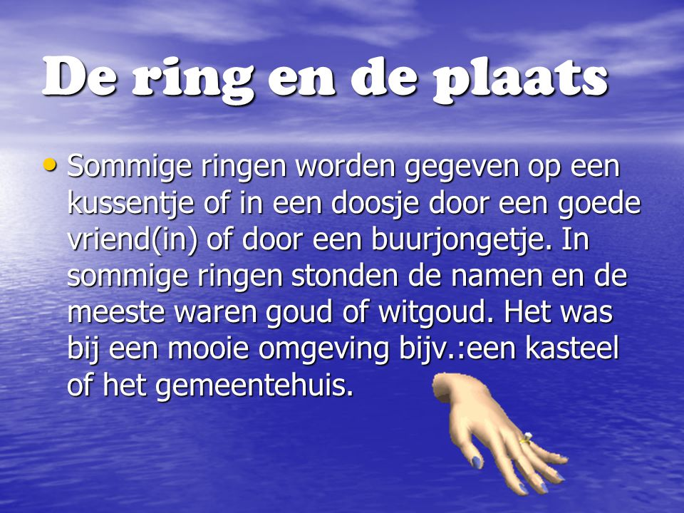 De ring en de plaats