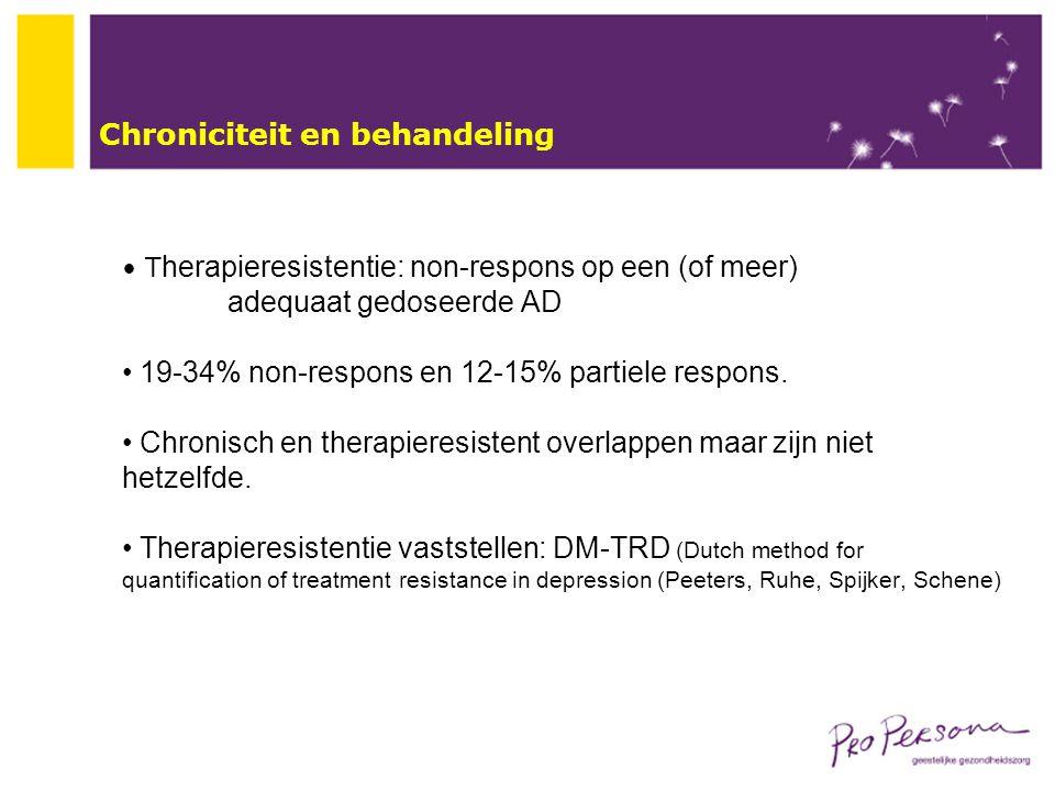 Chroniciteit en behandeling