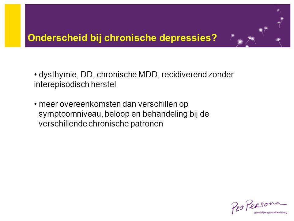 Onderscheid bij chronische depressies