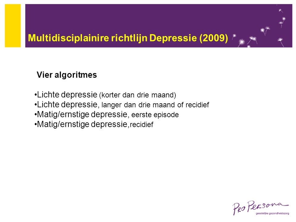 Multidisciplainire richtlijn Depressie (2009)