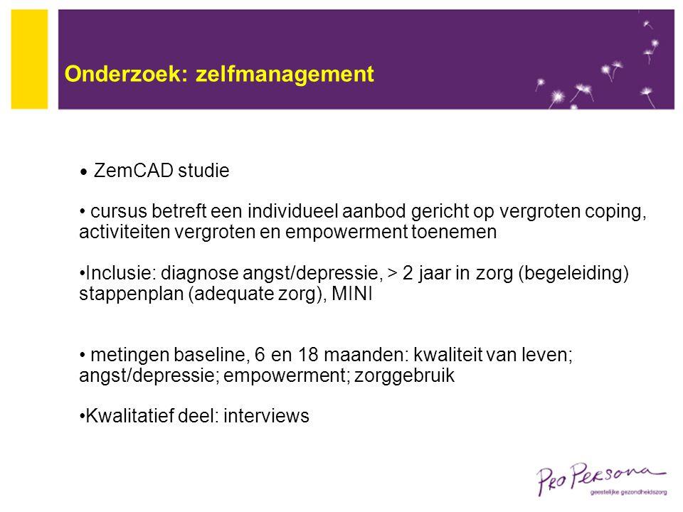 Onderzoek: zelfmanagement