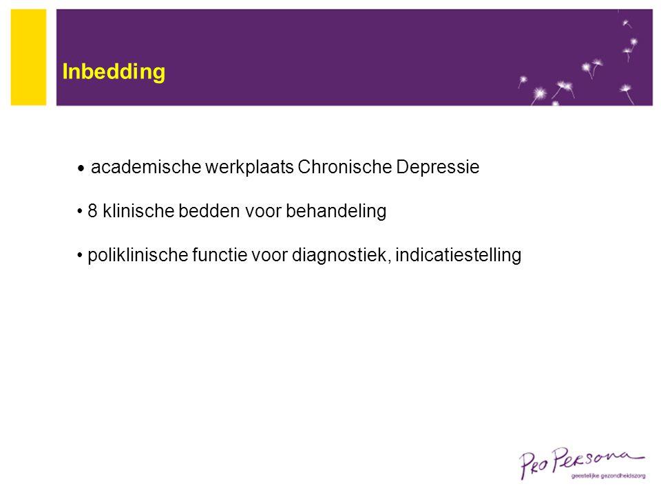 Inbedding 8 klinische bedden voor behandeling