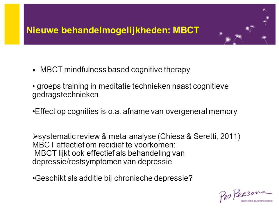 Nieuwe behandelmogelijkheden: MBCT