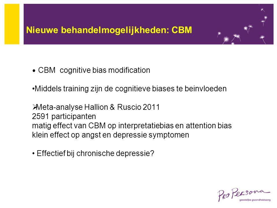 Nieuwe behandelmogelijkheden: CBM
