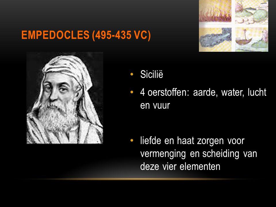 Empedocles (495-435 vC) Sicilië