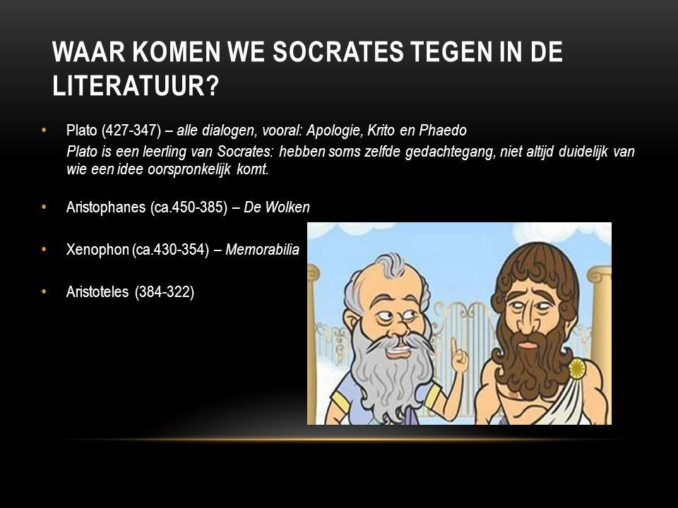 Waar komen we Socrates tegen in de literatuur