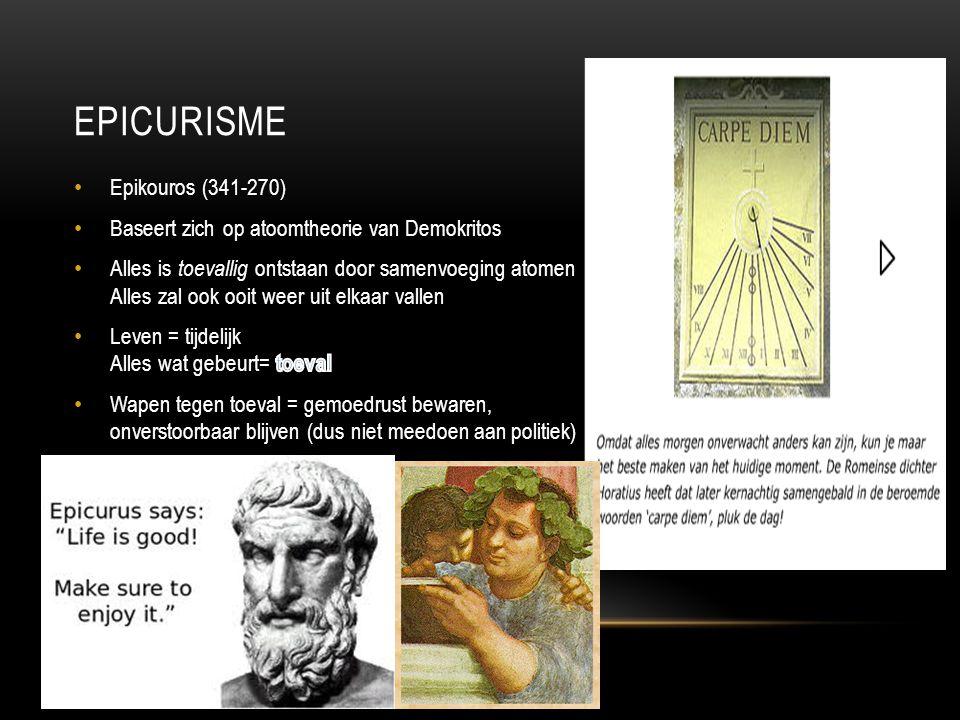 Epicurisme Epikouros (341-270)