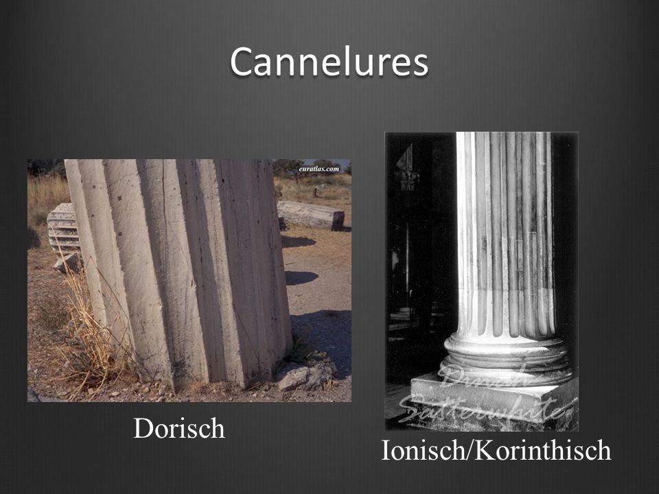 Cannelures Dorisch Ionisch/Korinthisch