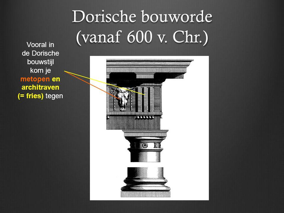 Dorische bouworde (vanaf 600 v. Chr.)