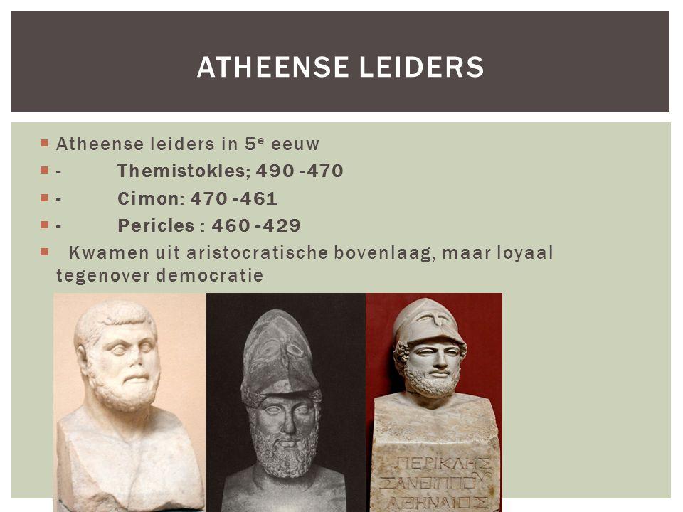 Atheense Leiders Atheense leiders in 5e eeuw - Themistokles; 490 -470
