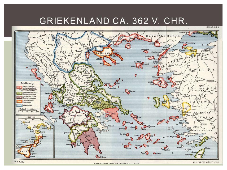 Griekenland ca. 362 v. Chr.