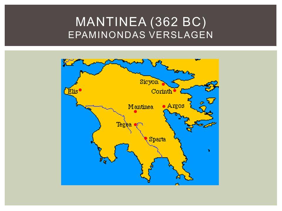 Mantinea (362 BC) Epaminondas verslagen