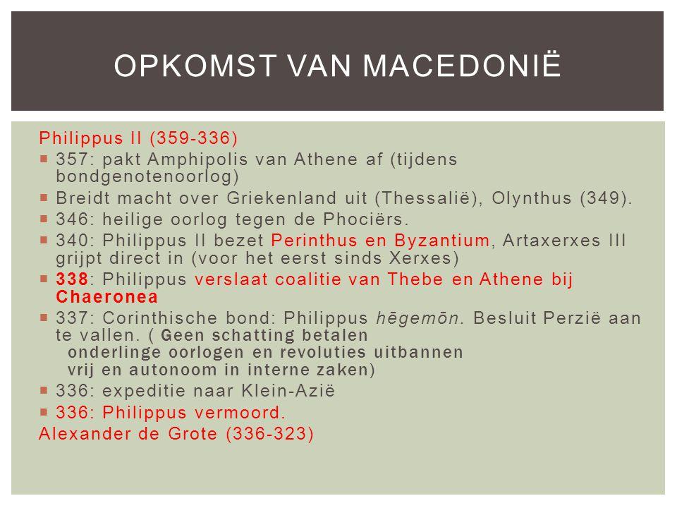 Opkomst van Macedonië Philippus II (359-336)
