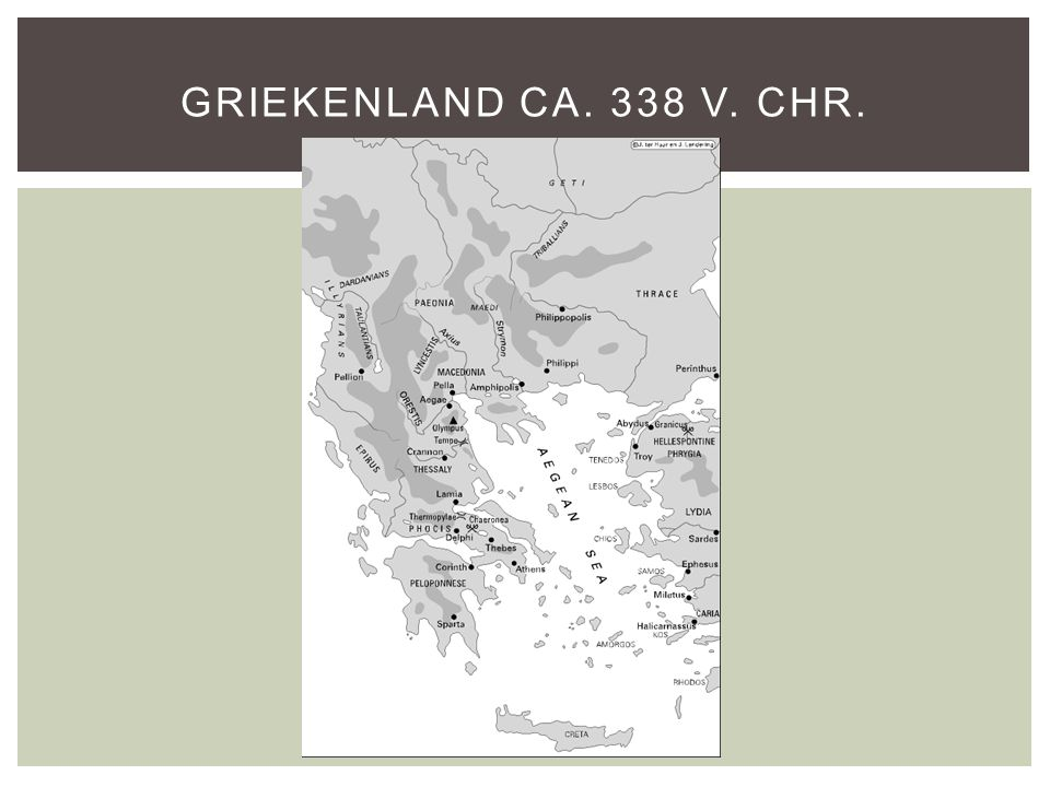 Griekenland ca. 338 v. Chr.