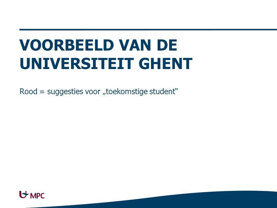 Uni Ghent Studeren Studiekeuze, Academische kalender, Talencentrum,