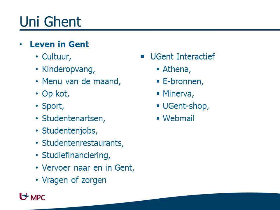 Uni Ghent Studentenadministratie Wijziging diploma-, Adreswijziging,