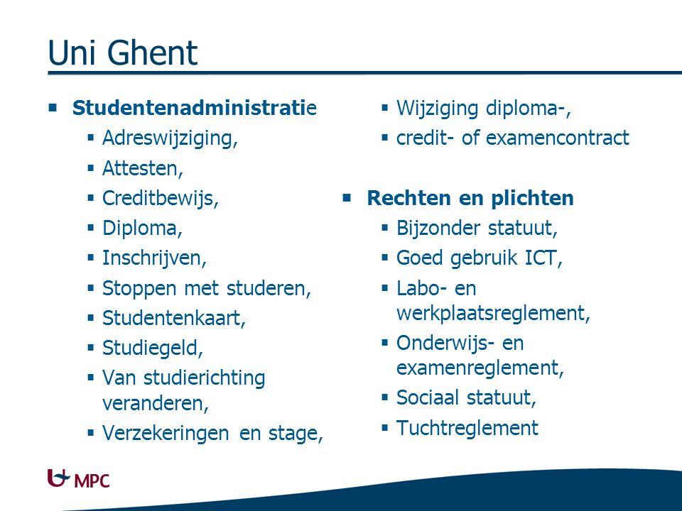 Uni Ghent contactinfo UGent. Na je studies. Alumniwerking, Doctoreren, Loopbaanadvies, Vacatureforum,
