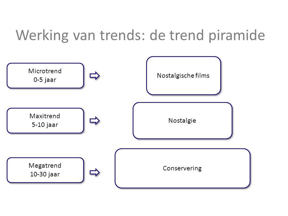 Werking van trends: de trend piramide