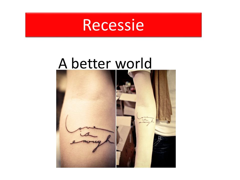 Recessie A better world