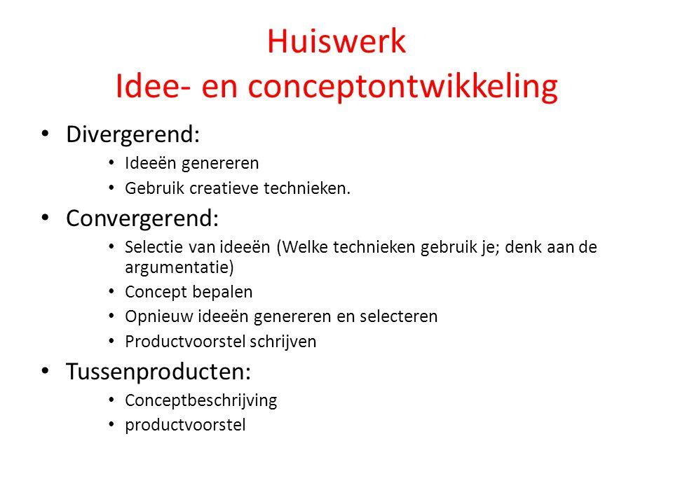 Huiswerk Idee- en conceptontwikkeling