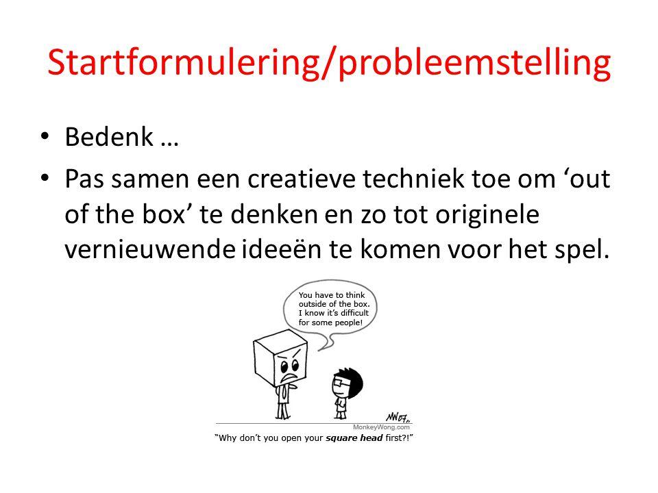 Startformulering/probleemstelling