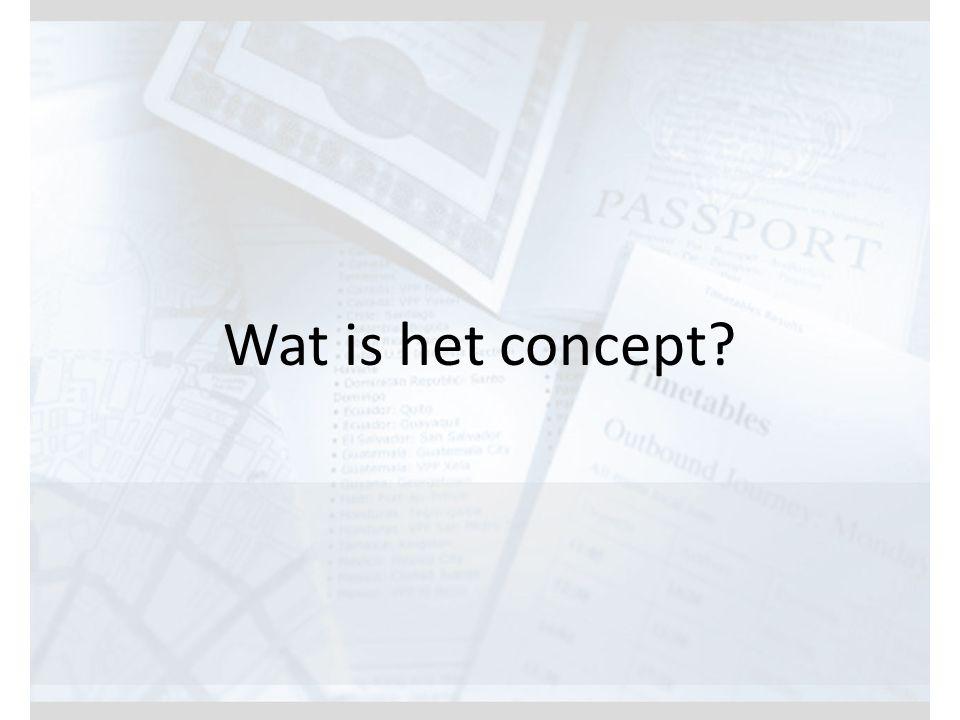 Wat is het concept