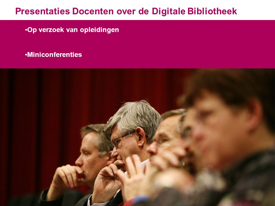 Presentaties Docenten over de Digitale Bibliotheek