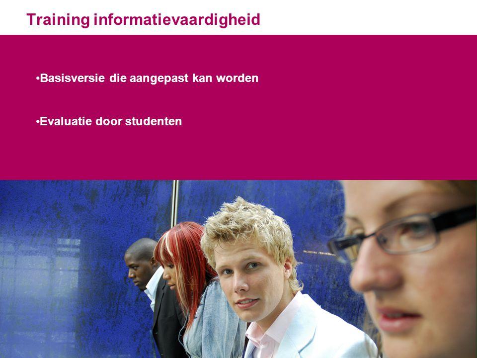 Training informatievaardigheid